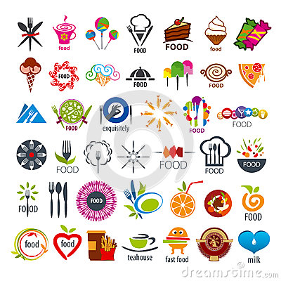 Free Collection Of Vector Logos Food Stock Photos - 44807153