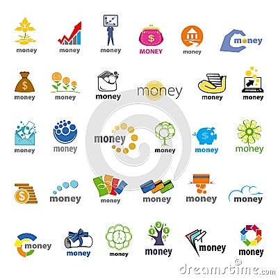 Free Collection Of Vector Logos Money, Finance Royalty Free Stock Photos - 44920358