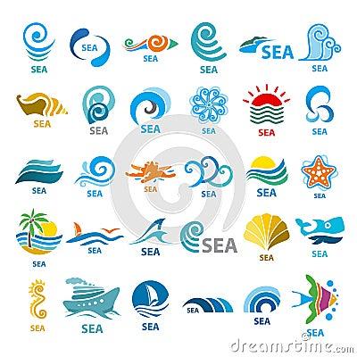 Free Collection Of Vector Logos Sea Stock Photography - 42757872