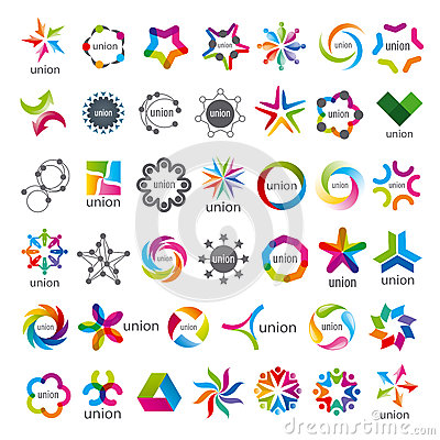 Free Collection Of Vector Logos Union Stock Images - 37572314