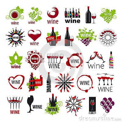 Free Collection Of Vector Logos Wine Royalty Free Stock Images - 43343589