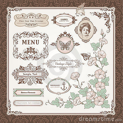 Free Collection Of Vintage Elements Stock Photo - 21054850
