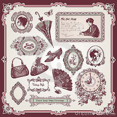 Free Collection Of Vintage Elements Stock Photos - 21054873