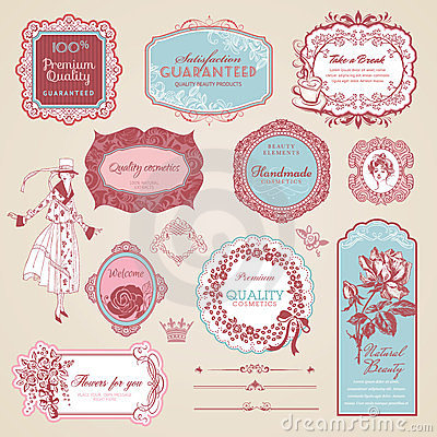 Free Collection Of Vintage Labels And Elements Stock Images - 24193554