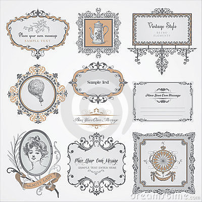 Free Collection Of Vintage Labels And Stickers Stock Photography - 21054892