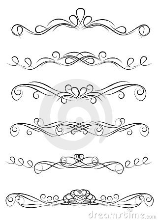 Free Collection Of Vintage Ornate Decoration Dividers Royalty Free Stock Photos - 20073018