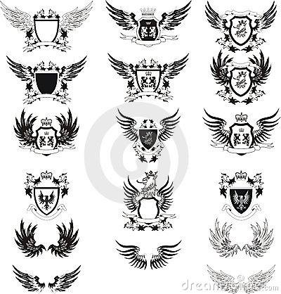 Free Collection Of Vintage Vector Coat Of Arms Stock Photography - 16538292