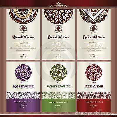 Free Collection Of Wine Labels Stock Photo - 21054570