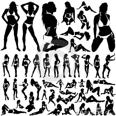 Free Collection Of Women In Bikini Vector Stock Photo - 3930610