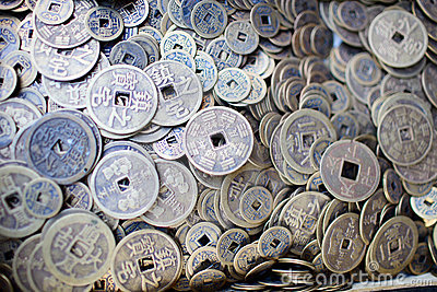 Collection of old Chinese coins