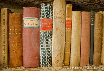 Collection of old scientific books