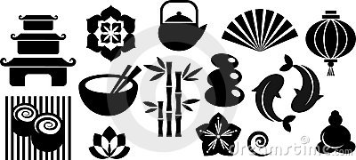 Collection of oriental and Zen icons and logos