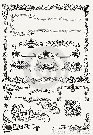 Collection of Ornamental Borders And Elements