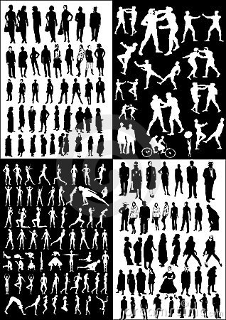 Collection of people vectors