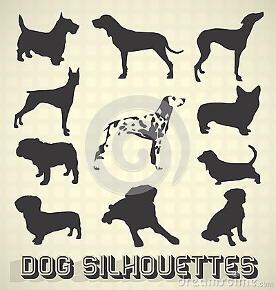 Pet Dog Silhouettes
