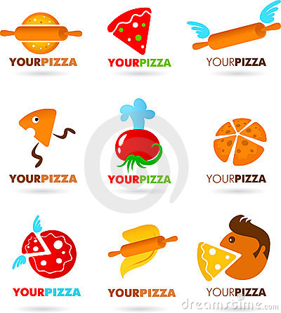 Collection of pizza logos