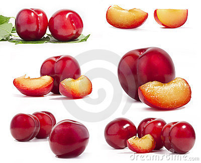 Collection of red plum