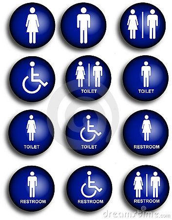 Collection of restroom people pictograms