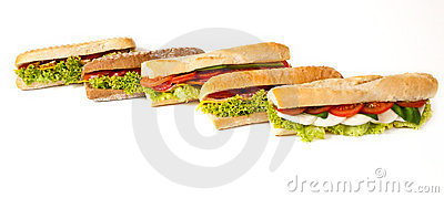 Collection of sandwiches.