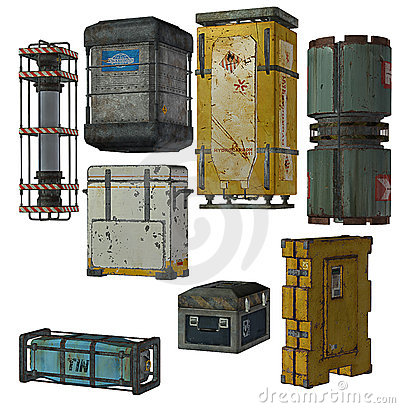 Collection of shipping crates