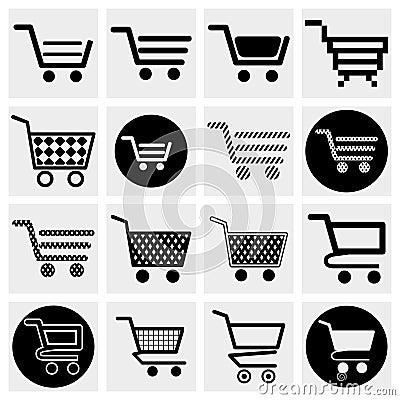 Collection of vector shopping cart vector icons se