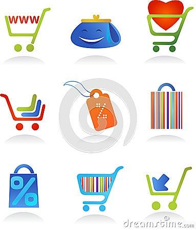 Collection of shopping logos