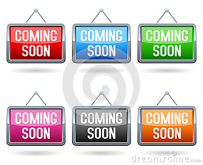 Coming Soon Web Buttons