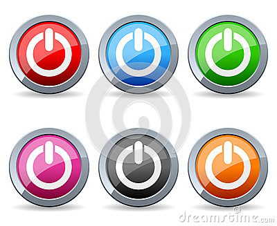 Colorful Power Web Buttons