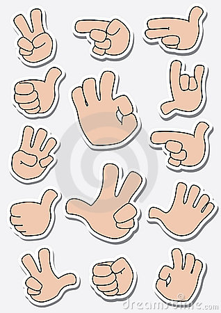 Collection of sticker gestures