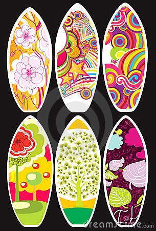 Collection of surfboards