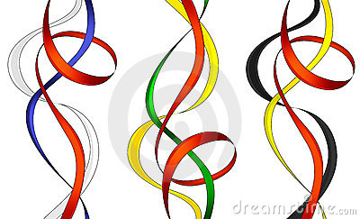 Collection of swirl ribbons