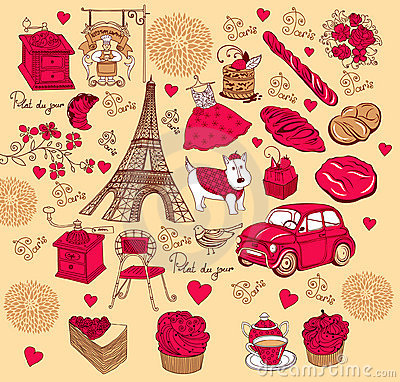 Collection symbols of Paris.