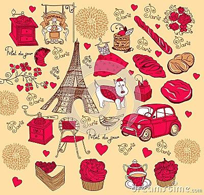 Collection symbols of Paris.