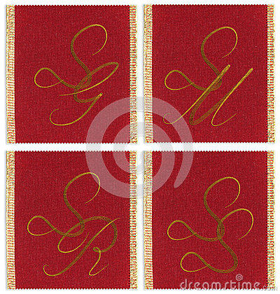 Collection of textile monograms