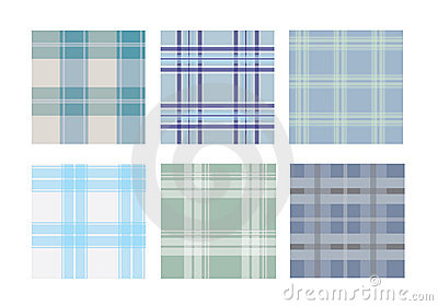 Collection of traditional tartan seamless pattern