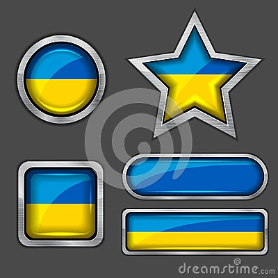Collection of ukraine flag icons