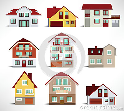 Collection of urban houses