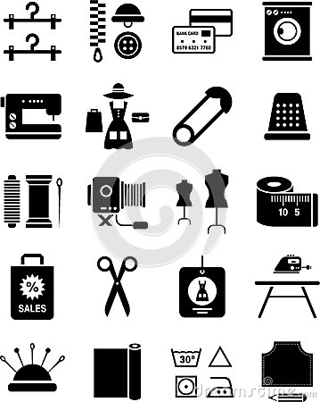 Clothing and textile industry illustration