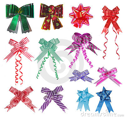 Collection of various ribbons bow
