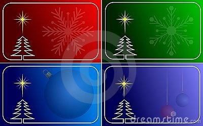 Collection of vector christmas cards