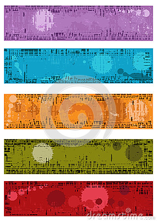 Collection of vector grunge banners