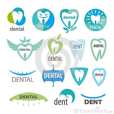 Collection of vector logos dentistry Vector Illustration