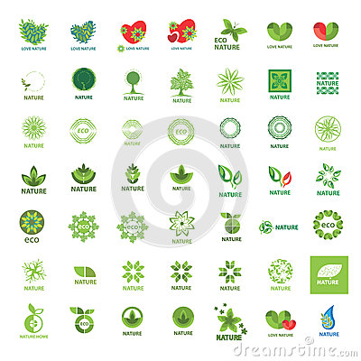 Collection of vector logos eco and nature