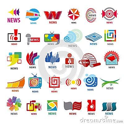 Collection of vector logos news