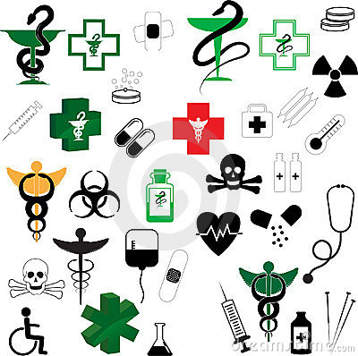 Collection of Vector Medical Symbols