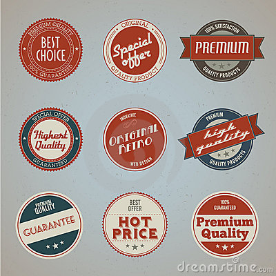 Collection of vintage premium quality labels