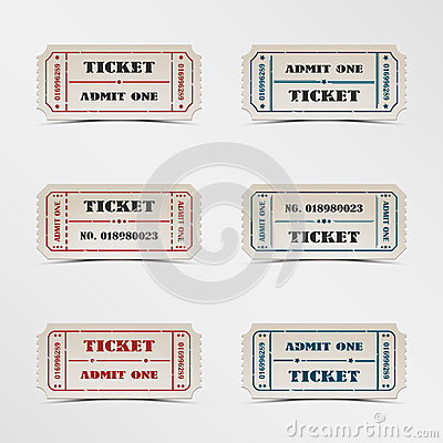 Collection vintage ticket