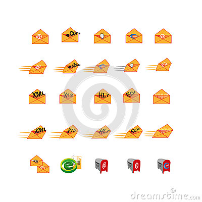 Collection of Web icon symbol