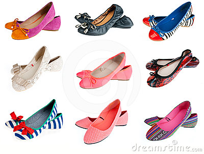 Collection of woman summer shoes