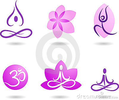 Collection of yoga icons